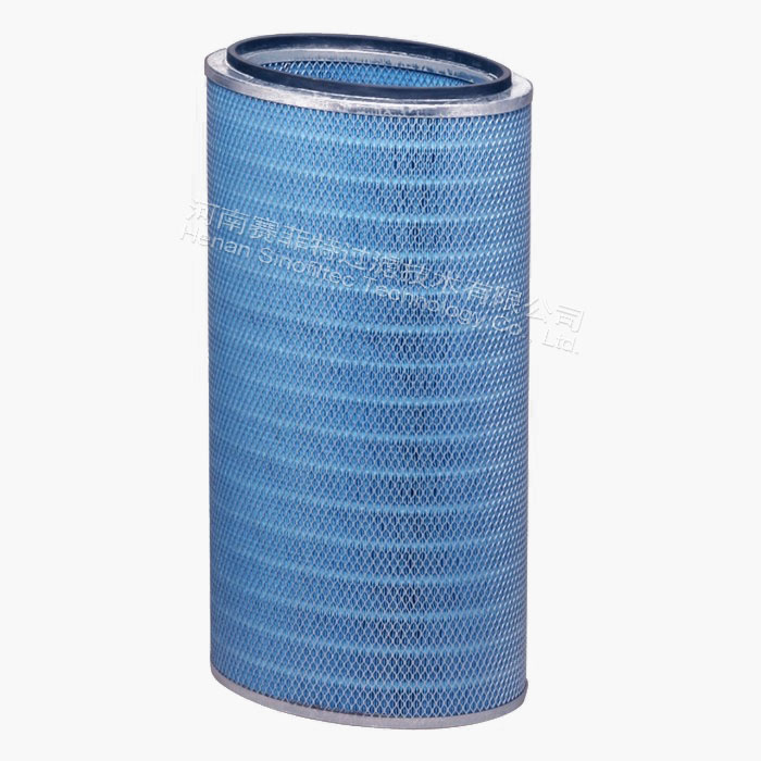 Oval blue air filter