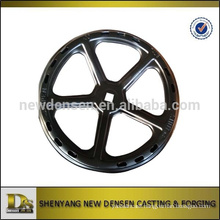 OD 300mm black Stamping handwheel for valve