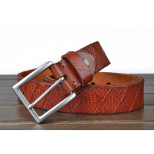 Customized hot sale 38mm width full grain leather belt