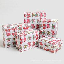Barato personalizado de impressão de papel de armazenamento de embalagens caixas de presente