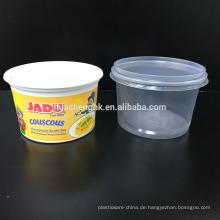Einweg-Plastiknahrungsmittelbehälter 550ml mikrowellenfest