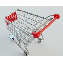 Hot Sale Cute Gift Mini Shopping Trolley/Exquisite Mini Shopping Cart