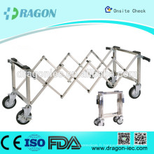 Chariot de ciseaux funéraires en acier inoxydable DW-TR002 pour cercueil