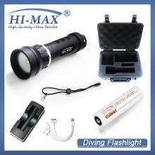 Precio de fábrica 1pcs 18650 batería del li-ion Luz de vídeo subacuática del buceo con escafandra