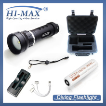 Factory price 1pcs 18650 li-ion Battery Scuba diving underwater video light