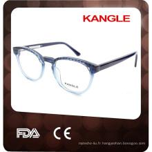 2017 Date conception Lady acétate optique glasse et lunettes