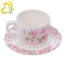 Platillo barato de la taza de té de la melamina del diseño moderno