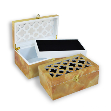 Piano Finish Lacquer Jewelry Caja de madera