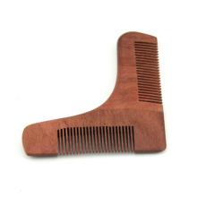 venda quente de metal de plástico de madeira grooming beard shaping tool