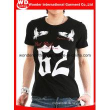 Benutzerdefinierte Design Baumwolle Bildschirm gedruckt Mann Mode T-Shirt
