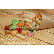 Verschiedene kandierte und knusprige Reis Cracker