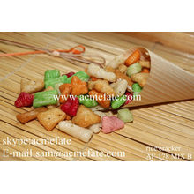 various candied and crispy rice cracker