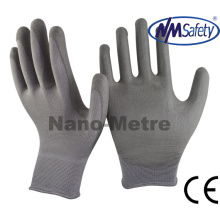 Nmsafety Professional Nylon Coated Grey PU Gloves