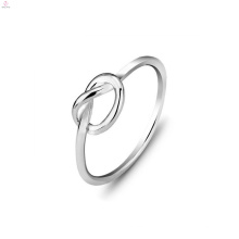 Anneaux nobles d'amour d'argent de bijoux de Valentine, couple S925 argent sterling noeud d'amour anneau