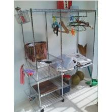 Estante de la esquina de la sala de lavado para la suspensión de ropa y el almacenaje de los varios-Cj6020120b4c