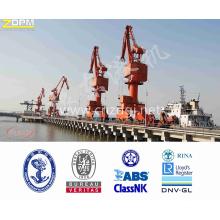 Uso de 25T Portal Mobile Crane Single Jib Porto Porto de equipamento para carregamento e
