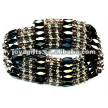 "Magnetisches Violettes Glas Perlenverpackung Armbänder & Halskette 36 """