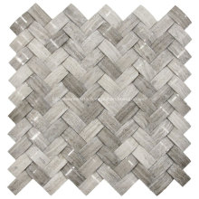 3D Grey Marble Mosaic Stone for Wall Decor