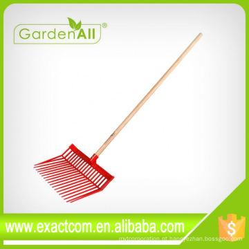 Ancinho da folha do ancinho do fundamento da grama do jardim da amostra grátis de China