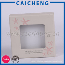 Benutzerdefinierte Logo gedruckt Schmuck Geschenkpapier Verpackung Box mit Deckel