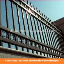 Pó moderno revestido / aço galvanizado barato decorativo ferro forjado design da cerca de piquete para Europeia (fábrica)