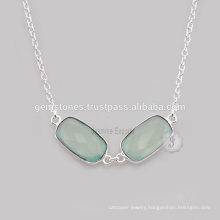 Natural Aqua Chalcedony Stone Jewelry For Wholesale