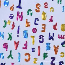 Etiqueta engomada de epoxy modificada para requisitos particulares del alfabeto del color