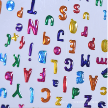 Autocollant Epoxy Alphabet Couleur Personnalisé