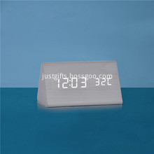 Promotional Triangle LED Wooden Clocks In Bulk