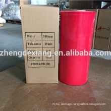 Red color stretch film for packing pallet