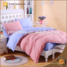 Набор постельных принадлежностей хлопка реактивной 100% для домашнего текстиля равнина покрашенная реактивная печать постельные принадлежности комплект домашний текстиль постельные принадлежности комплект