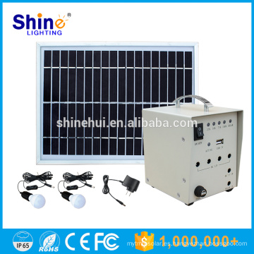 Cargador móvil del precio de fábrica 5W Hogar que enciende el sistema de energía solar