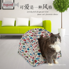 Foldable Indoor Waterproof Pet Bed Cave Washable Cat Tent