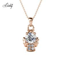 Wholesale Kids Jewelry Cute Crystal Little Angel Baby in Heaven Pendant Necklace