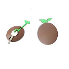 Capa e porta-chaves de silicone com formato redondo bonito LFGB