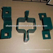 Clips de clôture en fil métallique (pinces)