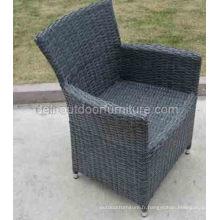 Jardin osier extérieur imperméable à l'eau UV Metal Frame chaise