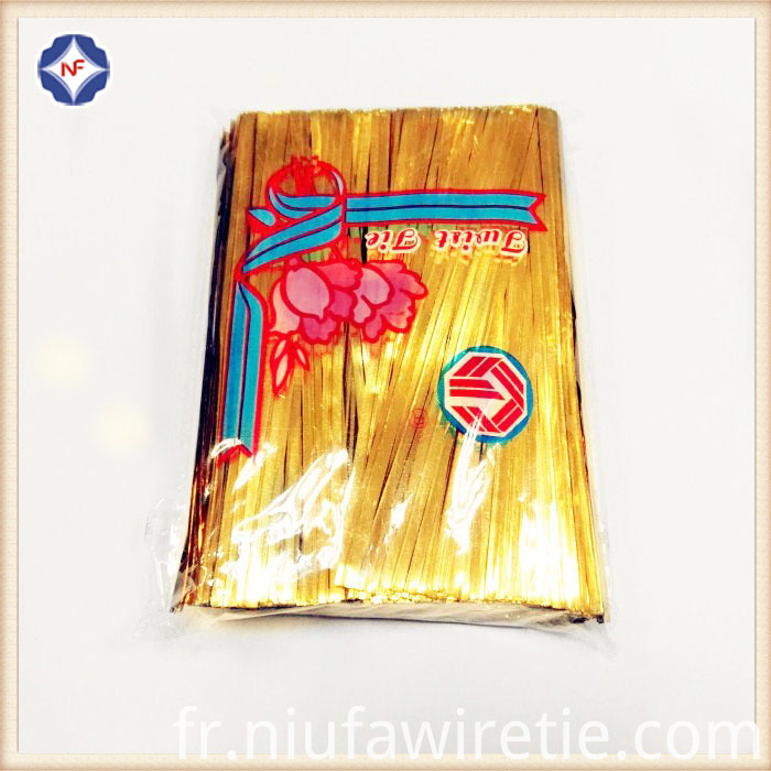 1000pcs Foil Gold Twist Tie
