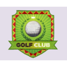 Embroidery + Sublimation Patch, Emblem- Club de golf