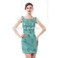 Robe de soirée courte perlée verte perlée élégante robe de bal pas cher 2017