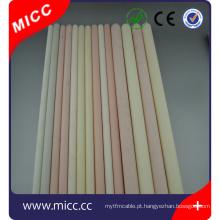 MICC Alta temperatura refratária alta pure alumina cerâmica tubo 99 al2o3