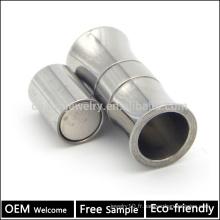 BX014 Vente en gros fermoir magnétique en acier inoxydable pour bracelets à corde bijoux Échec gratuit