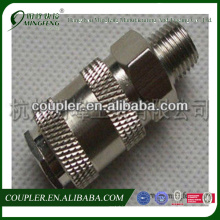 Brass nickel-plated hose for air compressors with coupler