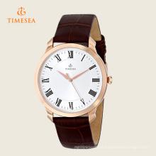 Numerais romanos Dial couro pulseira Men 's Watch 72281