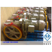 YJF100K sola velocidad engranaje montaplatos máquina de tracción
