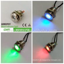 Lámpara de señal de metal CMP anti-vándalo IP67 luz indicadora tricolor led