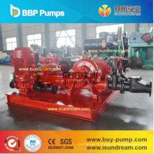 Pompe à eau centrifuge conduite par moteur diesel et conduite par moteur électrique