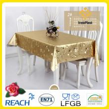 Toalhas de mesa em PVC dourado e relevo