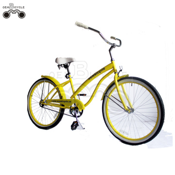 yellow sweet beach cruiser bike for lady