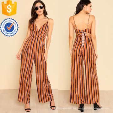 Multicolor V escote en V profundo pierna mono OEM / ODM Fabricación venta al por mayor mujeres ropa de moda (TA7012J)